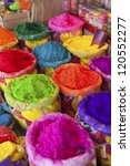 Piles Of Colored Powder For...