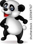 panda cartoon dancing | Shutterstock .eps vector #120569767