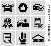 Car dealership icons - stock vector