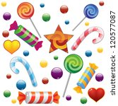 candies set on white background.... | Shutterstock .eps vector #120577087
