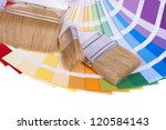 color palette and a brush ... | Shutterstock . vector #120584143