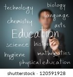 teacher writing education concept - stock photo