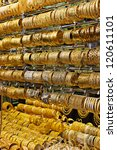 Gold market in Dubai, Deira Gold Souq - stock photo