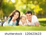 happy mother  father and... | Shutterstock . vector #120623623