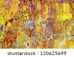 Grunge rusty metal - abstract background - stock photo