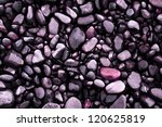 pink peeble stones close up - stock photo