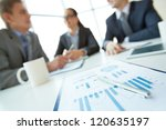 business document on background ... | Shutterstock . vector #120635197