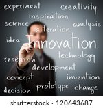 business man writing innovation ... | Shutterstock . vector #120643687