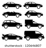 vector. 8 black cars. | Shutterstock .eps vector #120646807