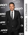 "Ben Affleck at the Los Angeles premiere of his movie ""Argo"" at the Samuel Goldwyn Theatre, Beverly Hills. October 4, 2012  Beverly Hills, CA Picture: Paul Smith - stock photo"