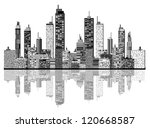 city skyline | Shutterstock . vector #120668587