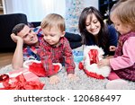 a young family getting... | Shutterstock . vector #120686497