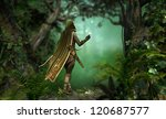 A Hunter In A Hooded Cape...
