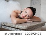 young woman having massage in... | Shutterstock . vector #120692473