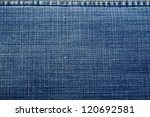 Blue Denim Jeans texture - stock photo