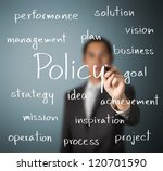 business man writing policy concept - stock photo