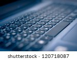 keyboard of laptop closeup | Shutterstock . vector #120718087