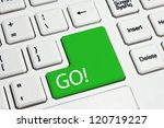 white keyboard | Shutterstock . vector #120719227