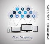 cloud computing concept | Shutterstock .eps vector #120734293