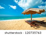 tropical beach in sri lanka | Shutterstock . vector #120735763