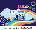 cute peace owl vector... | Shutterstock .eps vector #120746407