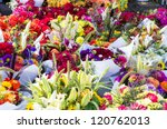 Display Of Fresh Flower...