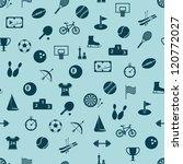 seamless sport pattern | Shutterstock .eps vector #120772027