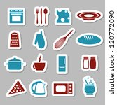 kitchen stickers - stock vector