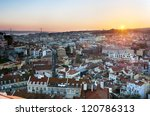 Lisbon panoramic - stock photo