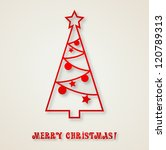 christmas greeting | Shutterstock .eps vector #120789313