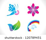 abstract spring icon template vector illustration - stock vector