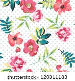 seamless tropical vintage... | Shutterstock .eps vector #120811183