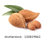 Almonds with kernel - stock photo