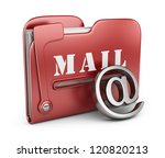 Folder is similar to mail box. Email concept. 3D icon isolated - stock photo