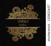 elegant floral pattern on a... | Shutterstock .eps vector #120822637
