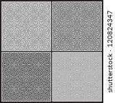 grey seamless pattern set.... | Shutterstock . vector #120824347