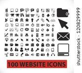 100 website icons set, vector - stock vector