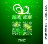 christmas background. gift box... | Shutterstock .eps vector #120831823