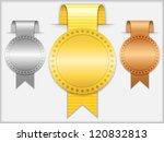 golden  silver and bronze... | Shutterstock .eps vector #120832813