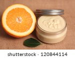 Homemade body butter - stock photo