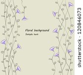 floral background | Shutterstock .eps vector #120846073