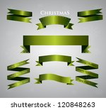 set of green ribbon | Shutterstock .eps vector #120848263