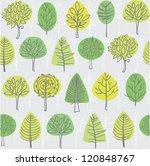 seamless tree pattern... | Shutterstock .eps vector #120848767
