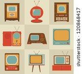 vector retro vintage stylish tv ... | Shutterstock .eps vector #120868417