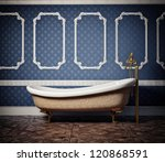 classic style bathtub - stock photo
