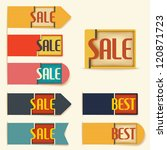 set of label and stickers sale... | Shutterstock .eps vector #120871723