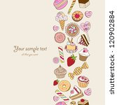 Sweets background with place for your text - stock vector