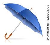 high detailed blue umbrella ... | Shutterstock .eps vector #120905773