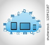 cloud computing concept | Shutterstock .eps vector #120912187