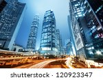 the central business district... | Shutterstock . vector #120923347